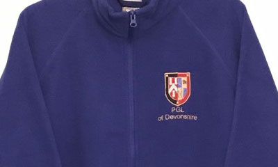 PGL Devonshire fleece jackets for sale to raise funds for the Festival