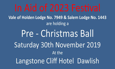 2023 Festival Pre-Christmas Ball, Langstone Cliff Hotel, Dawlish